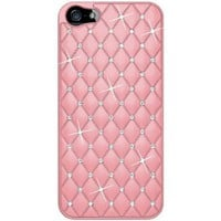 Amzer AMZ94729 Diamond Lattice Snap On Shell Case Cover For iPhone 5 (Fits All Carriers) - 1 Pack - Retail Packaging - Light Pink:Amazon:Cell Phones & Accessories
