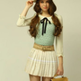 cute knitted chiffon pat...