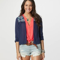 AE Embroidered Cardigan | American Eagle Outfitters