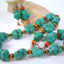 Indian Seasons - Bold Turquoise Necklace Set