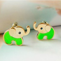 Neon Elephant Baby Fashion Earrings | LilyFair Jewelry