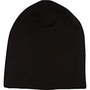 Black ribbed beanie hat - hats - accessories - women