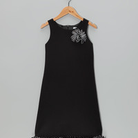 Black Ottoman Dress - Girls