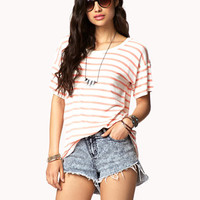 Cutout Striped Tee | FOREVER 21 - 2049257064