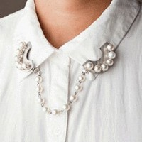 Pearl Moon Chain Necklace/Collar Pins | LilyFair Jewelry