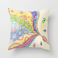The Painted Quilt Throw Pillow by Catherine Holcombe
