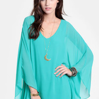 Serena Tunic Dress In Mint - $42.00 : ThreadSence, Women's Indie & Bohemian Clothing, Dresses, & Accessories