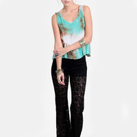 Unsolved Mystery Lace Bell Bottoms - $37.00 : ThreadSence, Women's Indie & Bohemian Clothing, Dresses, & Accessories