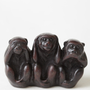 Three Wise Monkeys Figurine - $15.00 : ThreadSence, Women&#x27;s Indie &amp; Bohemian Clothing, Dresses, &amp; Accessories