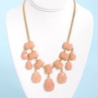 Gem-balaya Peach Statement Necklace