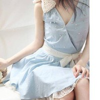 shego shopping mall  [grlhx160054] Sweet Lace Jeans Color Dress