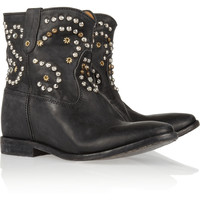 Isabel Marant|The Caleen studded leather concealed wedge boot|NET-A-PORTER.COM