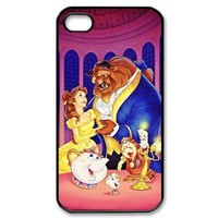 Designyourown Case Beauty and Beast Iphone 4 4s Cases Hard Case Cover the Back and Corners SKUiPhone4-2093:Amazon:Cell Phones &amp; Accessories