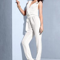Silk Open-back Jumpsuit