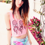 Flower of Life Dreamcatcher NEON Loose Crop Tank