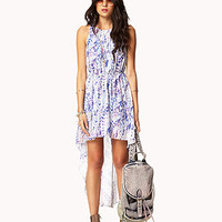 Watercolor Ikat High-Low Dress