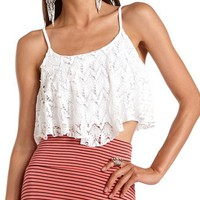 Draped Crochet Crop Top: Charlotte Russe