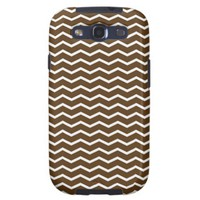 Chocolate Brown and White Chevron Pt68 Galaxy SIII Case from Zazzle.com