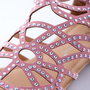 Luxurious Laser Cut Flat Sandals - Pink from Evening & Club at Lucky 21 Lucky 21