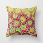Flying East Throw Pillow by micklyn
