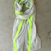 Yellow Highlighter Scarf [3938] - $16.00 : Vintage Inspired Clothing &amp; Affordable Summer Frocks, deloom | Modern. Vintage. Crafted.