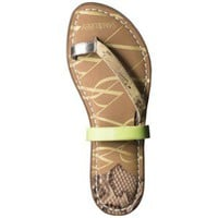 Women&#x27;s Sam &amp; Libby Karina 3 Strap Sandal with Toe Loop - Lime