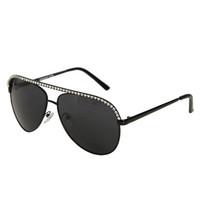 Rhinestone Top Aviator Sunglasses | Shop Accessories at Wet Seal