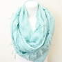 Aqua Fringe Scarf