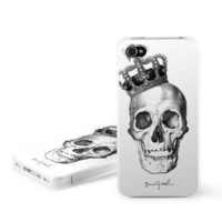 Skull King Design Snap on Hard Case Faceplate Cover for Apple iPhone 4 / 4S 16GB 32GB 64GB