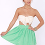 Elementary, My Dear Spot-son Mint Green Polka Dot Skirt