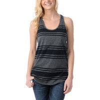 Zine Girls Black &amp; Charcoal Racerback Tank Top