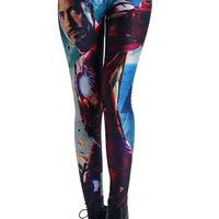 "ROMWE | ""Iron Man Hero"" Leggings, The Latest Street Fashion"