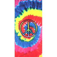 Kaufman Sales Rainbow Peace Sign Beach Towel