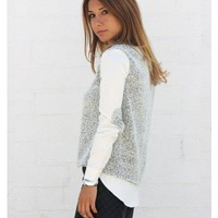 Knit Elbow Patch Sweater