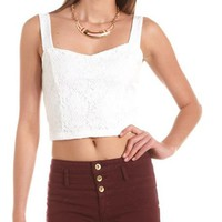 Bow-Back Crochet Longline Bra: Charlotte Russe