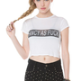 "Brandy Melville ""Fancy As Fuck"" Cropped Tee"