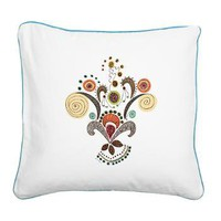 Wired Flower Square Canvas Pillow&gt; Throw Pillows&gt; Janet Antepara Designs