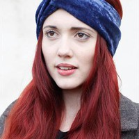 Velvet Turban headband- navy from Mod dolly