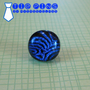 Blue Tie Pin, Dichroic Lapel Pin, Fathers Day, Womens Jewelry, Mens Jewelry - Walter - 039 -3