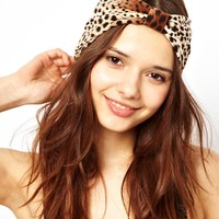 River Island | River Island Leopard Turban Head Band at ASOS