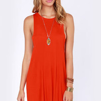 Obey Outlaw Red Orange Dress