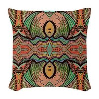 Cornucopia Pattern Woven Throw Pillow&gt; Throw Pillows&gt; Janet Antepara Designs