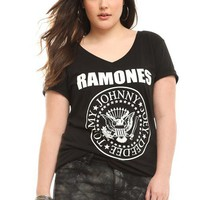 Ramones Seal V-Neck Tee | Tops