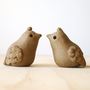 Vintage Lovebirds - Stoneware Quail Figurines