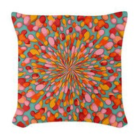 Confetti Burst Woven Throw Pillow&gt; Throw Pillows&gt; Janet Antepara Designs