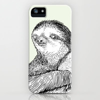 Portrait of a Sloth iPhone & iPod Case by Andrew Henry
