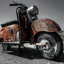 Patinated Zundapp Bella Scooter 001 Photograph by Lance Vaughn - Patinated Zundapp Bella Scooter 001 Fine Art Prints and Posters for Sale