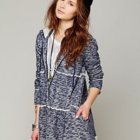 Free People Tiered Trapeze Zip Sweatshirt