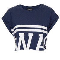 Swag Crop Tee - Jersey Tops - Clothing - Topshop USA