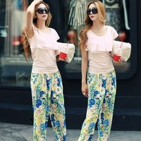 BOHEMIAN FLORAL HAREM PANTS